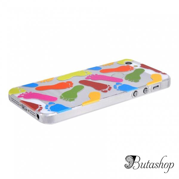 РАСПРОДАЖА! NEWTONS 3D Footprint Pattern Protective Case for iPhone 5 - butashop.com