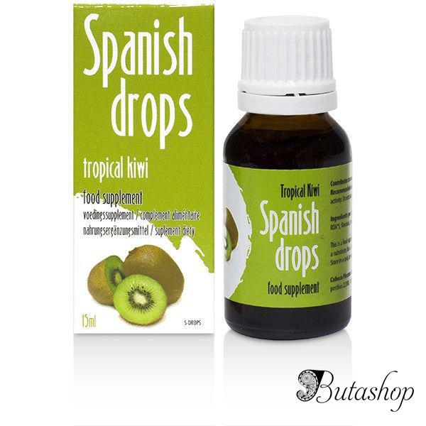 Возбуждающие капли Spanish Drops Tropical Kiwi (15ml) - butashop.com