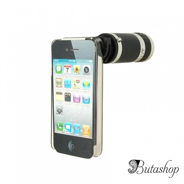 РАСПРОДАЖА! 6X Zoom Mobile Phone Telescope for iPhone4 (Black) - butashop.com